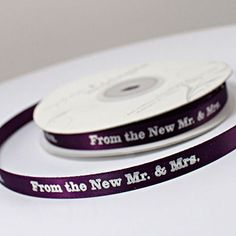 'From the New Mr. and Mrs.' Ribbon