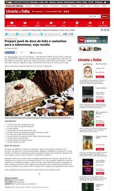 Título: Prepare pavê de doce de leite e castanhas para sobremesa. Veículo: Folha.com 11/08/2015 Cliente: Alaúde