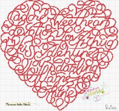 Cool xstitch heart - can you spot all the words in it? I've found 9 so far...