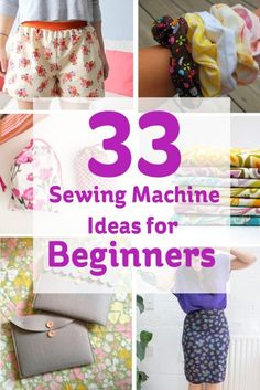 33 Sewing Machine Ideas for Beginners #sewing #beginner #projects                                                                                                                                                                                 More