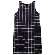 Olive + Oak Riley Shift Dress (403722701) (890.460 IDR) ❤ liked on Polyvore featuring dresses, black combo, cut out back dress, loose shift dress, tartan plaid dress, plaid dress and plaid button down dress