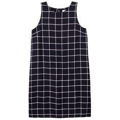 Olive + Oak Riley Shift Dress (403722701) (€60) ❤ liked on Polyvore featuring dresses, black combo, cut out back dress, tartan shift dress, shift dress, rayon dress and loose dresses