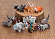 Polymer clay animal totems by lifedancecreations.deviantart.com on @DeviantArt