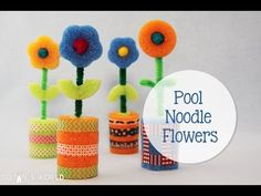Just in time for Mother's Day, crafting expert Sophie Maletsky creates this simple flower craft out of pool noodles. Materials you might need: Pool noodles: . Summer Crafts For Kids, Diy For Kids, Gifts For Kids, Water Games For Kids, Indoor Activities For Kids, Family Activities, Backyard For Kids, Backyard Games, Outdoor Games