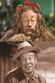 *THE COWARDLY LION & ZEKE (both parts played by: BERT LAHR) ~ The Wizard of Oz, 1939