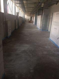 Im hier entstehenden Bankettbereich wird die Regenerationsküche zu finden sein. Der Bereich verläuft parallel zur Grand Hall im OG. #Effizienz
