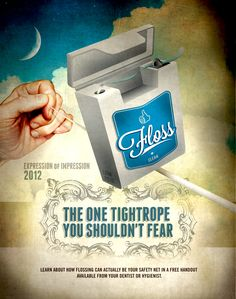 Dental floss is the one tightrope you shouldn't fear!