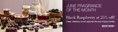 PartyLite Scent Of The Month June 2012: BLACK RASPBERRY 25% OFF!  Deep, delicious scent captures the zest of juicy berries