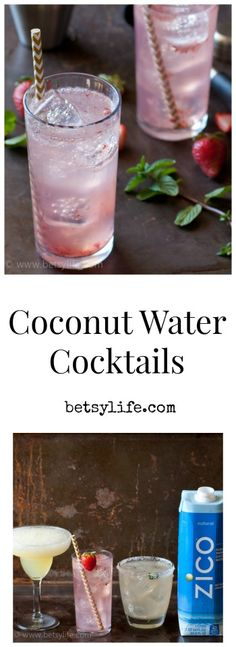 What are coconuts good for? Cocktails! 3 great Coconut Water Cocktails that help you rehydrate as you dehydrate this summer.
