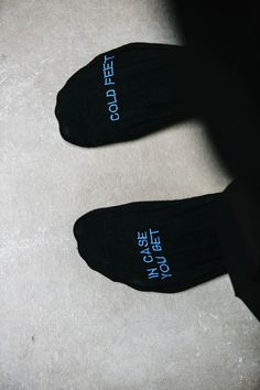 In case you get cold feet wedding socks for the groom https://www.etsy.com/listing/218091404/embroidered-grooms-socks-in-case-you-get?ref=shop_home_active_9