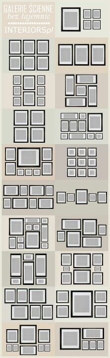 How to place photo frames on the wall