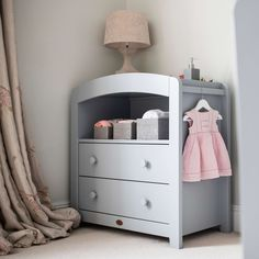 The Curved 2 Drawer Chest Changer is extremely practical and ideal for fitting into a snug space. It features an integrated change tray, storage she Storage Drawers, Chest Of Drawers, Storage Shelves, Open Shelving, Storage Chest, Shelf, Nursery Furniture Sets, Kids Furniture, Curve Design