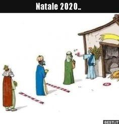 Natale 2020.. | BESTI.it - immagini divertenti, foto, barzellette, video Christmas Humor, Christmas Fun, Religion Memes, Italian Memes, Cartoon Jokes, Sarcasm Humor, Day For Night, Funny Games, Funny Pins