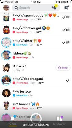 amosc for a streak Snapchat Nicknames, Names For Snapchat, Snapchat Ideas, Snapchat Group Chat, Noms Snapchat, Group Chat Names, Name For Instagram, Snap Friends, Snapchat Streak