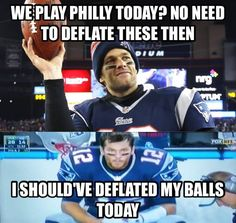 Tom Brady regrets he didn't cheat when The Eagles beat the Patriots. Not sure if it's proof that the Philadelphia eagles are a great team or if Brady can only win when he cheats