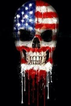 Biker motocicleta Assassin Skull Guns calavera pistolas Pegatina Sticker decal
