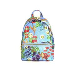 Cynthia Rowley Leona Floral Mini Backpack (4.450 RUB) ❤ liked on Polyvore featuring bags, backpacks, light blue, miniature backpack, cynthia rowley bags, day pack backpack, floral backpack and mini bag