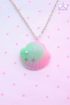 Cute Can Kill | Stars mermaid shell(mint green x pink) | Online Store Powered by Storenvy