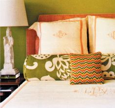 "Barrie Benson Design | Silk Trading's ""Shingu Suiting"" Upholstered Headboard 