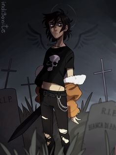 EVERYONE IN THE OVEN! Nico Di Angelo by http://indigonite.tumblr.com/