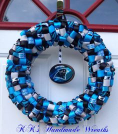 Carolina Panther Wreath
