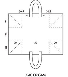 sac origami patron