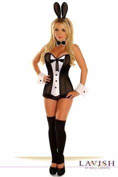 f0df6421a10 4 pc Sexy Tuxedo Playmate Playboy Bunny Corset Costume TD113  DAISYCORSETS  CORSET  Corset Costumes