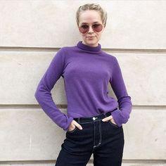 Lovely @mariejedig in purple and STORM&MARIE jeans #stormandmarie #asterjeans #jeansonsale #purplecoolness #stormandmariexmariejedig #womenwelove