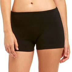 Women's Bally Total Fitness Flat Waist Yoga Hot Shorts, Size: Large, Black