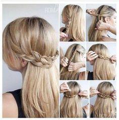 Cute Half Up Braid Hairstyles Tutorial: Long Straight Hair Ideas 2014- 2015 #straighthairstyleshalfup
