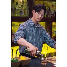 - - Source by creamdemintcake Belted Shirt Dress, Tee Dress, Korean Celebrities, Korean Actors, Velvet Skater Dress, Kdrama, Tartan Dress, Handsome Actors, Korean Men
