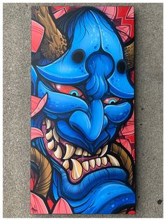 A collection of art and merchandise from the creative mind of David Tevenal. Demon Drawings, Cool Art Drawings, Japanese Tattoo Art, Japanese Art, Japanese Dragon, Japan Tattoo Design, Hanya Tattoo, Samurai Artwork, Graffiti Drawing
