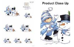 2 The Perfect Snowman Mini Masterpiece Die Cut Sheets Digi Stamps, Die Cutting, Cardmaking, Snowman, Etsy Seller, Cross Stitch, Mini, Creative, A4