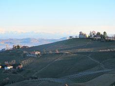 Marchesi di Gresy family home, the Villa Giulia, atop Monte Aribaldo, the highest point in Barbaresco