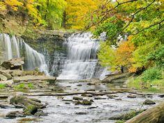 Balls Falls in autumn, Ontario, Canada
