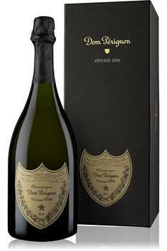 Dom Perignon 2006 Vintage Champagne. The year we get married along with crystal champagne glasses