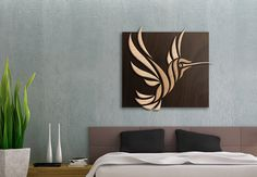 Picaflor - Wood Cut Hummingbird | by LoveTheGrain Etsy | #Hummingbird #woodart #decor #nature