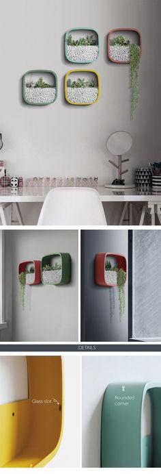 Modern and Elegant cement Vertical Wall Planter Pots Ideas