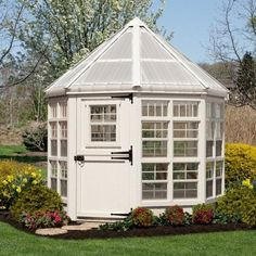 Little Cottage 8 x 8 ft. Octagon Greenhouse with Floor Kit | Jet.com