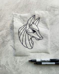 anubis tattoo flash sketch by nico di pisarro