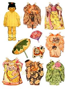 Gallery For > Japanese Paper Dolls Printable