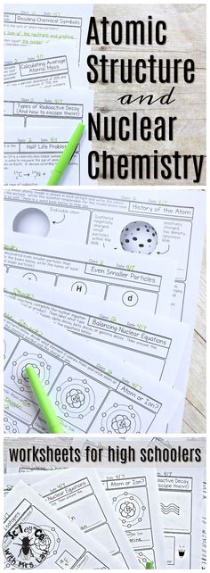A truly comprehensive unit full of pages covering atoms, ions, protons, neutrons, electrons, and radioactivity! These pages are full of pictures and diagrams to help students truly understand these chemistry concepts. Great for daily homework pages. Science with Mrs. Lau