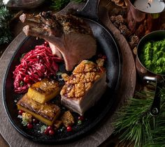 Konfitert ribbe og eplechutney   Appetitt Steak, Food, Ribe, Essen, Steaks, Meals, Yemek, Eten