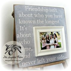 Sister Gift, Bridesmaid Gift, Best Friend Gift, Maid of Honor Gift, Personalized Picture Frame 16x16 BEST FRIENDS Thank you so much for visiting