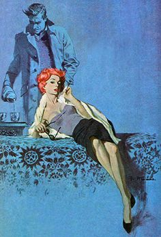 "Robert McGinnis, blue, from ""Legacy of a Spy"""