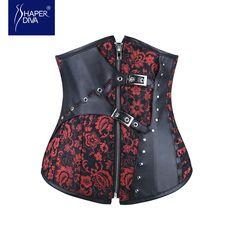 Steel boned sexy steampunk corset underbust corsets &bustiers women waist corset waist  cincher corselet