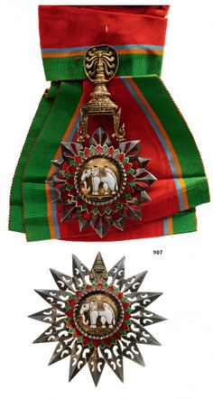 ORDER OF THE WHITE ELEPHANT Grand Cross Set, 1st Class, : Lot 2613