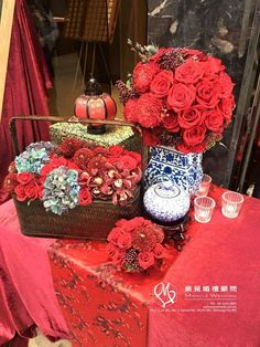 Wedding Themes Red Party Ideas For 2019 Chinese Wedding Tea Ceremony, Chinese Wedding Decor, Oriental Wedding, Chinese New Year Decorations, New Years Decorations, Wedding Reception Decorations, Red Wedding, Wedding Themes, Wedding Backdrops