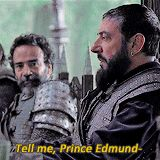 "Miraz-""pardon me?"" Ed-"" It's king Edmund, actually...Just king though. Peter's high king. I know, it's confusing."