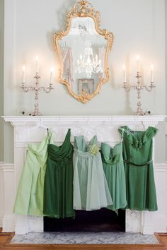 like the idea of one colour in different shades for bridesmaids